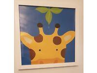 3 x nursery prints - animal brights unisex
