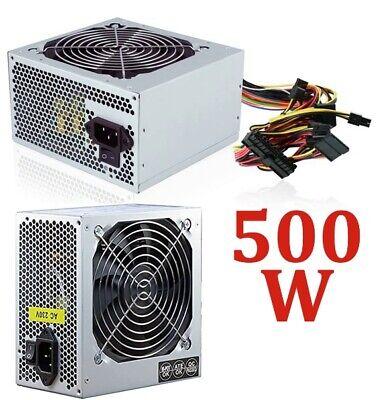 ALIMENTATORE PC FISSO DESKTOP ATX 500 WATT 24 PIN + 4 PIN AUX VENTOLA 12 CM