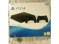 PS4 Slim Brand New, Sealed 2 Controllers