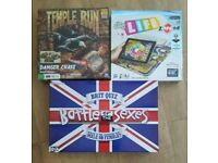 Board games £2 each or 3 for £5