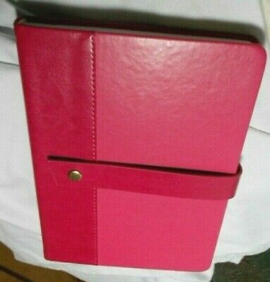 ROSE PINK LEATHER BOUND LINED JOURNAL SNAP CLOSURE GIFT FOR BEST FRIEND  #