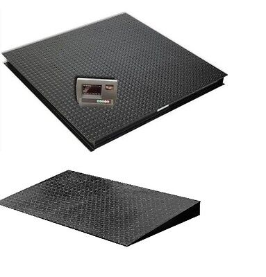 Saga Heavy Duty 48x48 Floor Scale 5000 X 0.5 Lbdigital Indicator With 1 Ramp