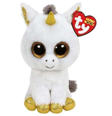 Unicorn 6 Ty Beanie Boos Whiskers Puppy Glitter Eyes Plush Stuffed Animals Toys