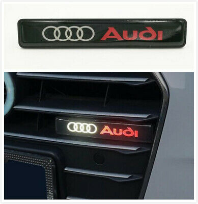 LED Light  Front Grille Badge Illuminated Decal Emblem For Audi A4 A5 A6 A7 Q5