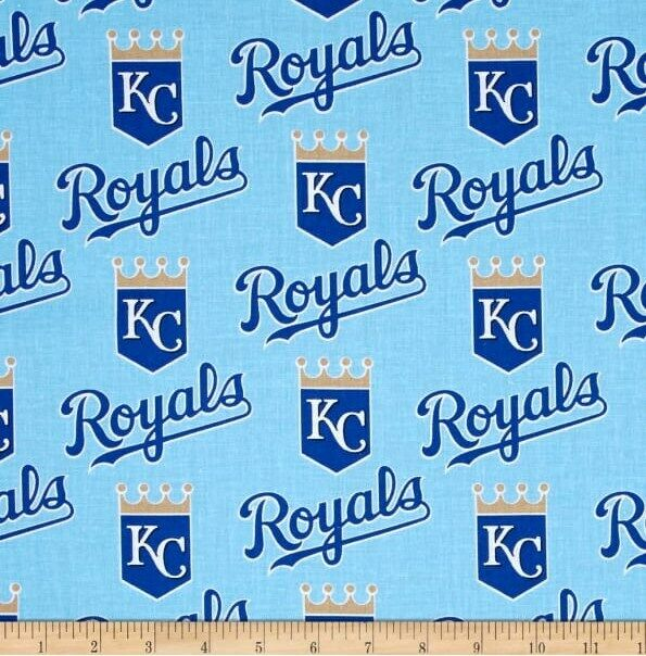 "kc royals fabric 10""x58"" cotton NEXT DAY SHIP kansas city ro"