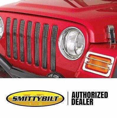 - Smittybilt Set Of 7 Billet Aluminum Grille Inserts For 97-06 Jeep Wrangler TJ LJ