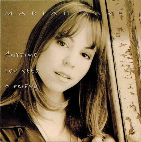cd single card - Mariah Carey - Anytime You Need A Friend