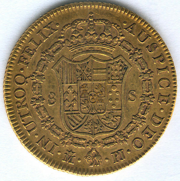 Carlos III 8 Shields 1772 Madrid P.J. @@ Very Bella @@ doubloon @@