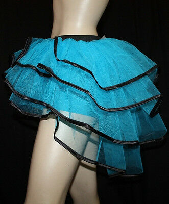 PLUS BLUE PEACOCK  BACHELORETTE BUSTLE  TUTU BURLESQUE DANCE PARTY HALLOWEEN