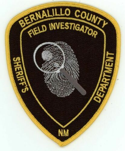 NEW MEXICO NM BERNALILLO COUNTY SHERIFF FIELD INVESTIGATOR NICE PATCH POLICE