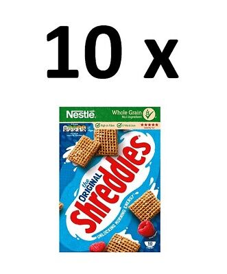 10 x Nestle Shreddies Original Cereal 415g FULL CASE BBE 31/07/20 CHEAP BARGAIN
