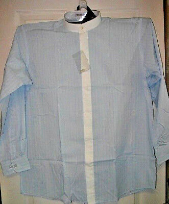 BANDED COLLAR WITH MATCHING WHITE FLY FRONT LS NIP 16 1/2 X 34/35