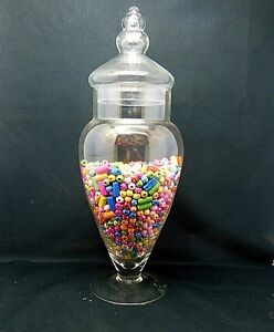 1X Wedding Event Lolly Candy Buffet Apothecary Jar 40cm
