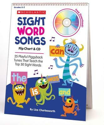 SIGHT WORD SONGS FLIP CHART - CHARLESWORTH, LIZA - NEW MIXED MEDIA PRODUCT