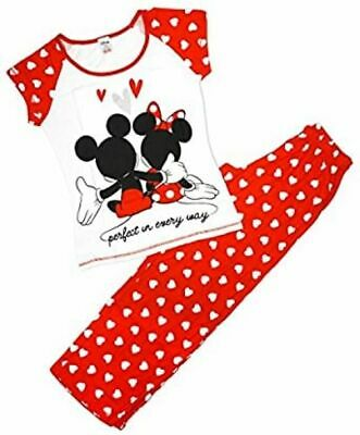 BRAND NEW OFFICIAL  LADIES DISNEY MINNIE AND MICKEY MOUSE PYJAMAS