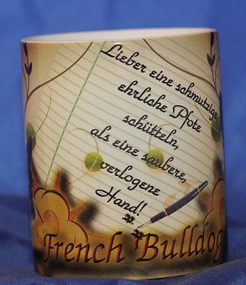 French Bulldog    -Keramiktasse-Kaffeetasse -- Neu - Funtasse-
