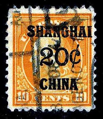 K10  USED .20c OVERPRINT ON 10c ISSUE OF 1919 - FINE = $140.00 (ESP#8264)