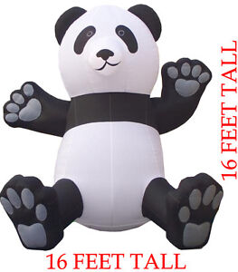 Huge 16' Promotional Business Advertising Inflatable Giant Panda Balloon