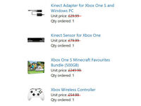 Xbox One S (500GB) + Kinect Sensor + Kinect Adapter + Xbox Wireless Controller + Lots of Games