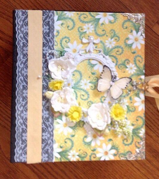 Handmade Album using Heartfelt Creations Peacock Paisley Collection