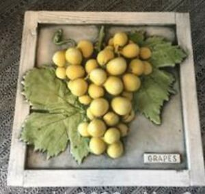 Wall plaque Green grapes