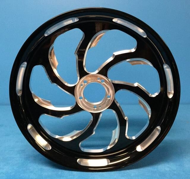 Black Contrast 240 Samuari Wheels, Hubs, And Sprocket For 00-04 Suzuki Gsxr1000