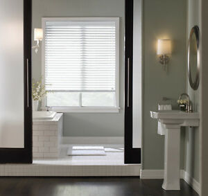 """Whole Home Basswood Natural Wood Window Blinds 2"""" Slats in White"""
