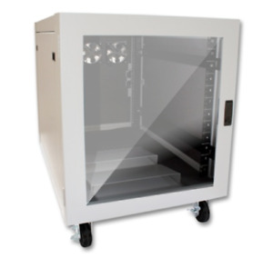 12U Server Rack Noise Reduction Cabinet - Wheeled