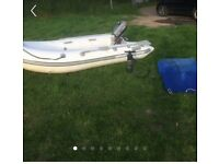 10 ft rib boat and outboard