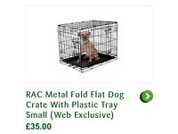 Small dog crate - 2 door opening