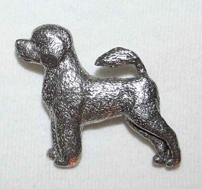 Portuguese Water Dog Harris Fine PEWTER PIN Jewelry Art USA Made