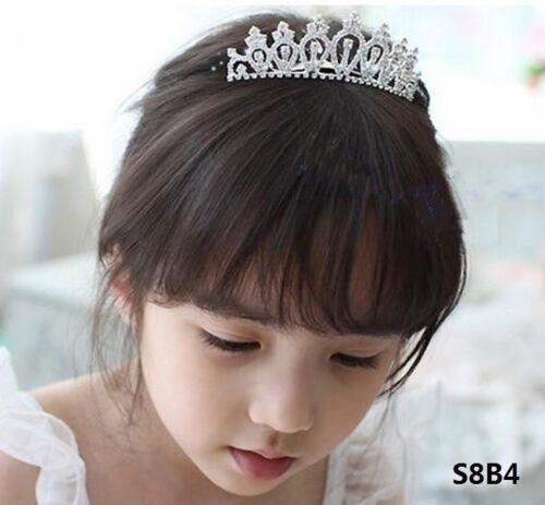 Wedding Crown Girl Kids Rhinestone Crystal Tiara Bridal Headband Princess S8B4