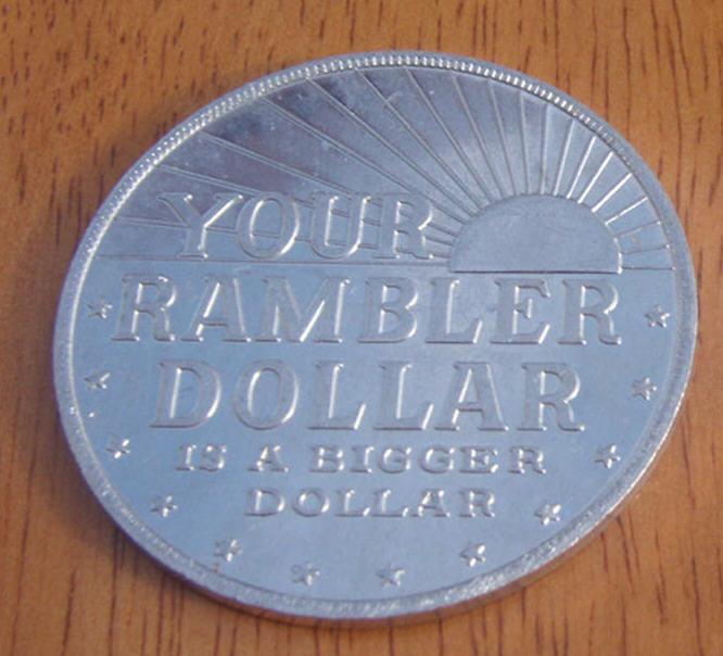 NOS Rambler Dollar Promo Coin Token  - American Motors Rambler Bucks