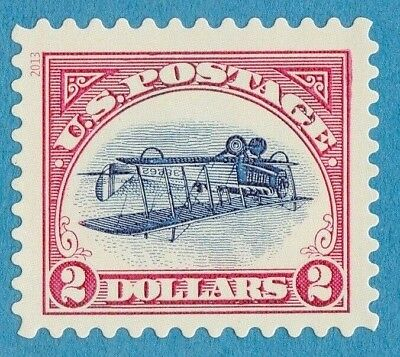 INVERTED JENNY STAMP UNUSED $2 DOLLAR AIRPLANE US POSTAGE CURTISS JENNY BiPLANE