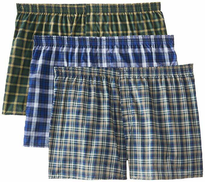 Fruit of the Loom Men's Boxer 3 Pack Big Man Sizes Plaid Tag Free Clothing, Shoes & Accessories
