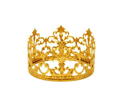 Wedding Cake Tops (Princess Gold Crown Cake Topper Vintage Crown  Small Gold Wedding Cake Top)