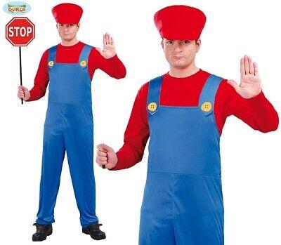 Herren Motor Driver Kostüm Mario Typ Klempner Outfit Junggesellenabschied - Driver Herren Kostüm