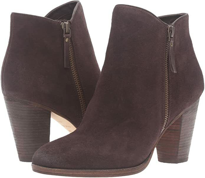 Cole Haan Women's Hayes Ankle Bootie Java Suede Boots Shoes