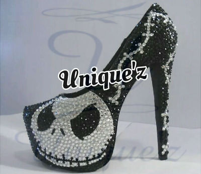 Nightmare Before Christmas Heels (Jack Skellington Pumps) for sale  Shipping to Canada