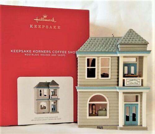 Hallmark 2021 Nostalgic Houses & Shops Keepsake Korner Coffee Shop 2021 Ornament