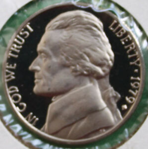 1979-PROOF-Jefferson-Nickel-from-US-Mint-Proof-Set-5c-Five-Cent-Coin-Made-in-USA