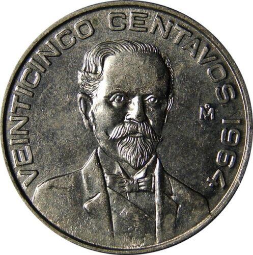 MEXICO 6 PIECE VINTAGE ~UNCIRCULATED 1960S COIN SET, 1 TO 50 CENTAVOS