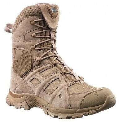 Haix Black Eagle Athletic 11 High Desert Sand Side Zipper Outdoor Boots Stiefel