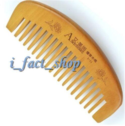 Newest Handmade Natural Sandalwood Wooden Hair Comb Wide Teeth Healthy IFA