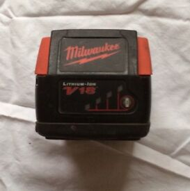 MILWAUKEE 18V LITHIUM-ION BATTERY