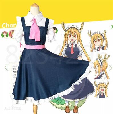 Cosplay Kobayashi-san Chi no Maid Dragon Tohru Kleid Cosplay Hot Kostüm