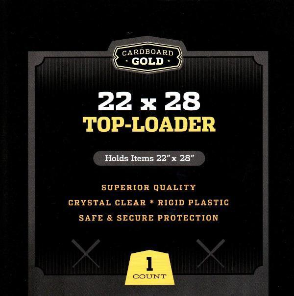 Case / 25 CBG 22 x 28 Hard Plastic Topload Holders 22x28 poster protector sheets