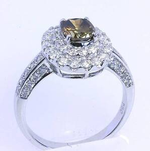 1.98 ct Oval Cognac and white Diamond hand made cluster ring Buderim Maroochydore Area Preview