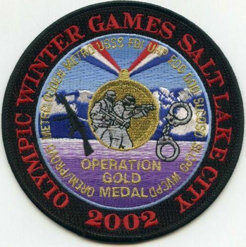SALT LAKE CITY 2002 WINTER OPER GOLD MEDAL COLOR USSS FBI EOD OREM SLC (FIRE)
