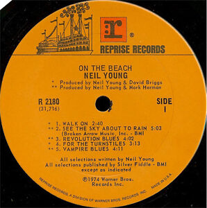 Neil Young - On the Beach LP Vinyl Record Peterborough Peterborough Area image 3